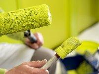 malowanie ścian na zielono