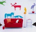 Dekoracyjne naklejki w salonie